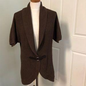Karen Scott brown cardigan cacophony sweater
